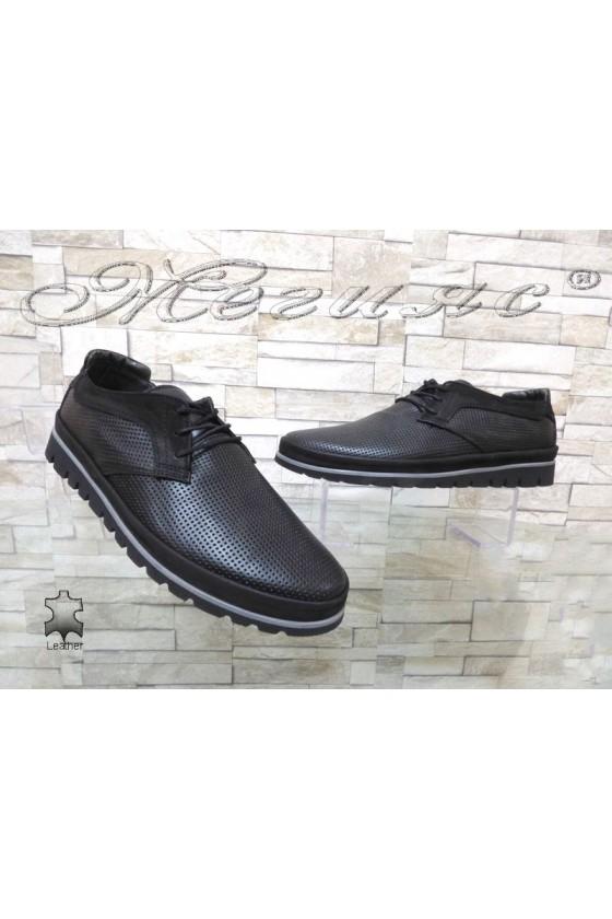 Men's shoes 2-A black leather