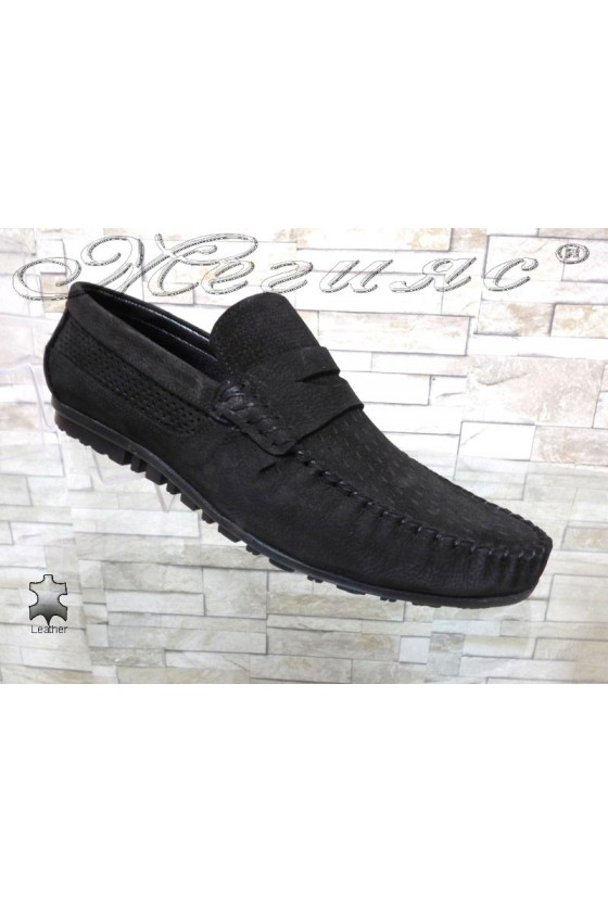 Men's shoes  Sharp 6103-04 black leather