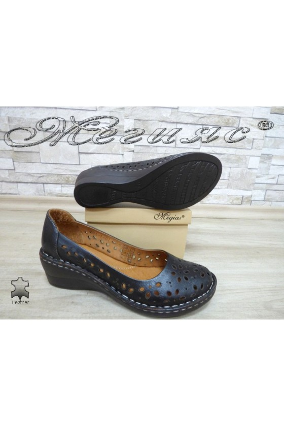 Lady shoes 5004-1-01 black leather