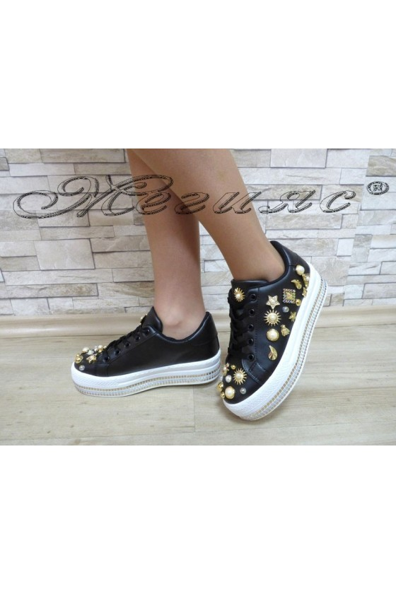 Women shoes 5687 black pu