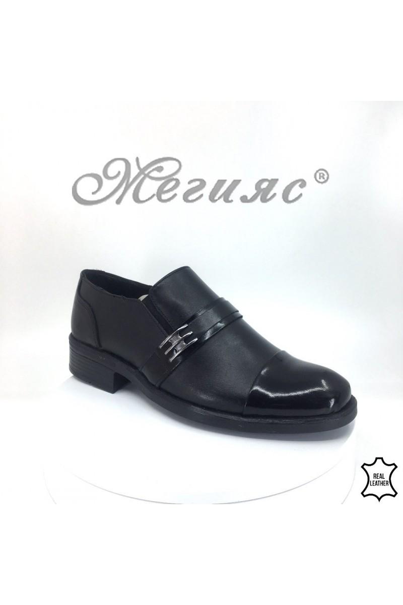 Детски/юношески обувки 19 черни от естествена кожа