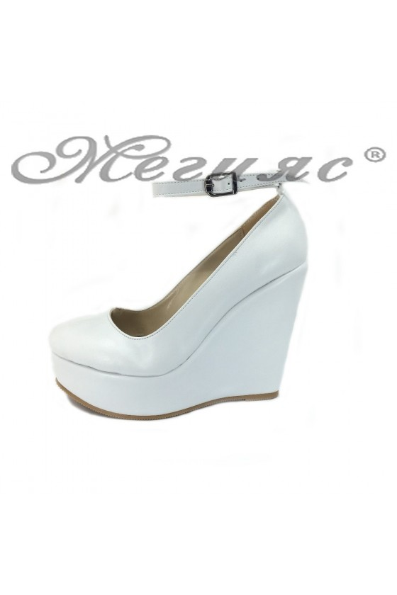 Women platform shoes 046 white pu