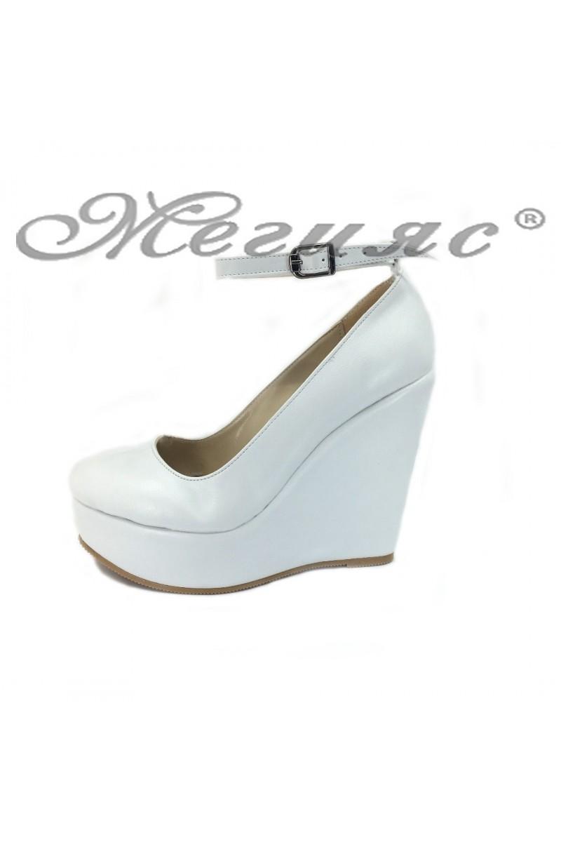 Women platform shoes 046 white pu