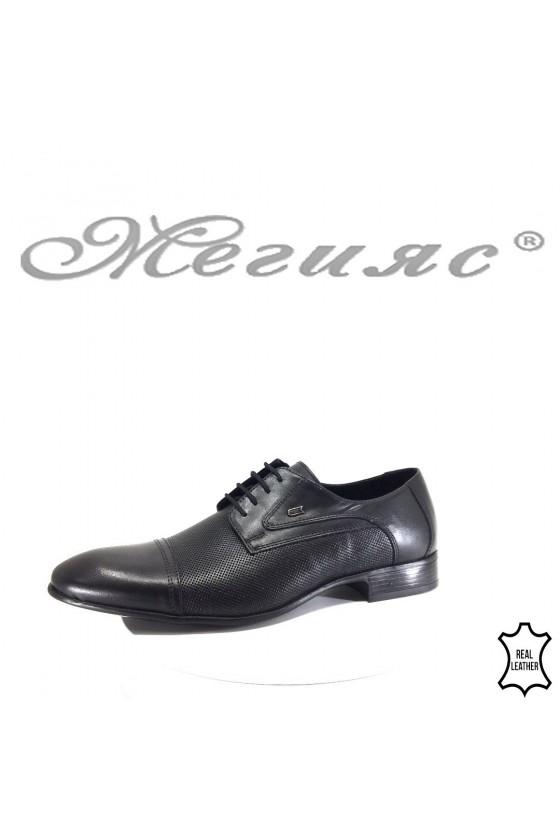Мъжки обувки Фантазия 118-2 черни от естествена кожа елегантни