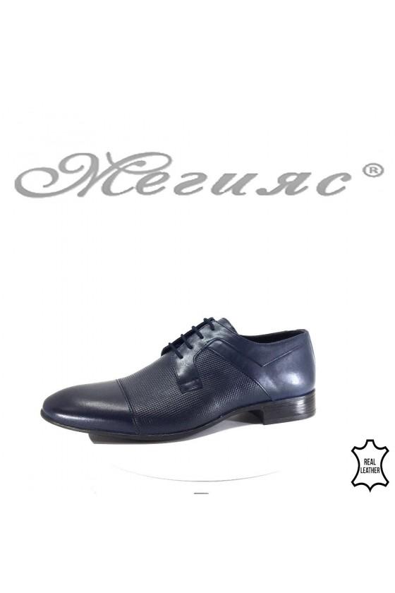 Мъжки обувки от естествена кожа елегантни сини