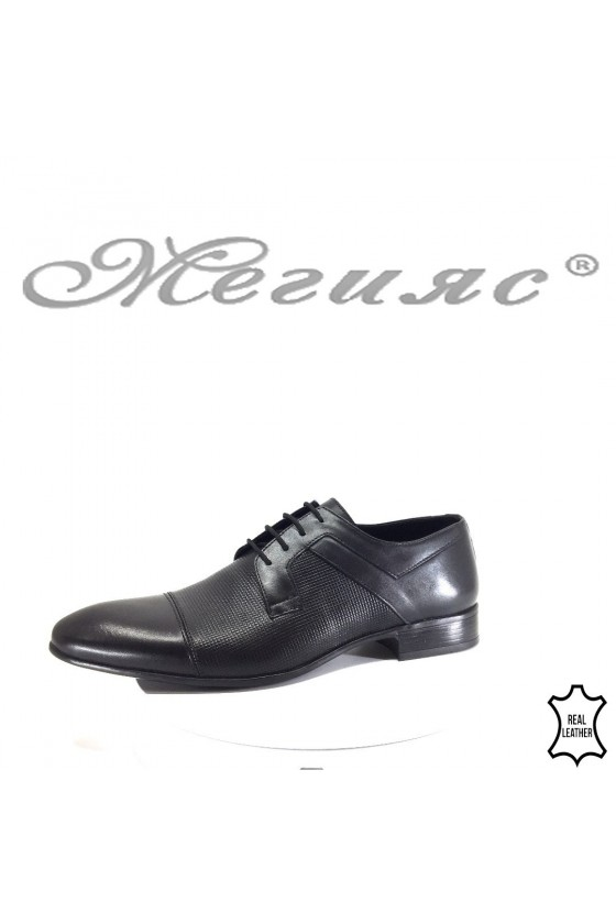 Men's elegant shoes  116-156 black leather