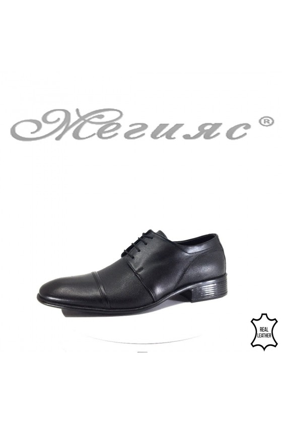 Мъжки обувки АТО 1067 черни от естествена кожа елегантни