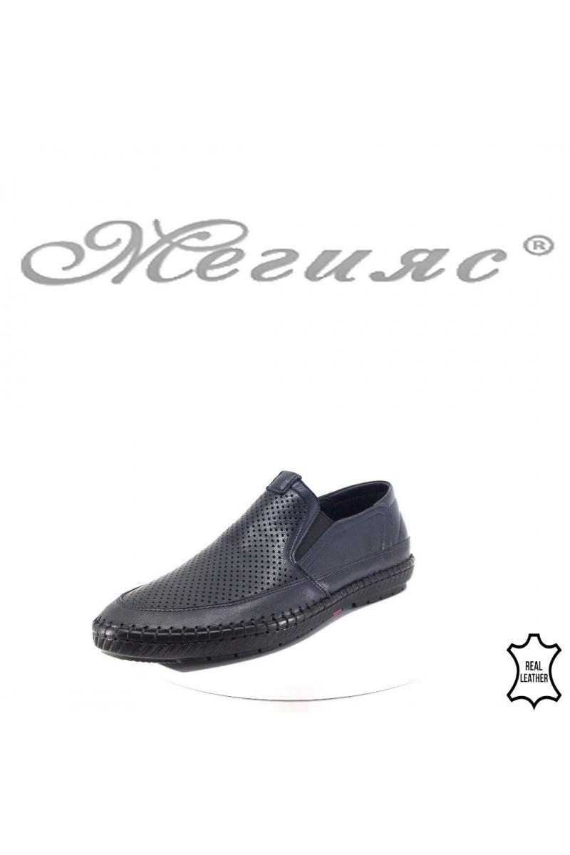 Men's shoes Fantazia D-03  blue leather