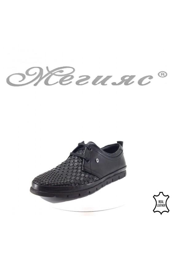Men's shoes XXL 11/2-7079 black leather
