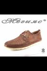 Мъжки обувки XXL 11/2-7079 таба от естествена кожа