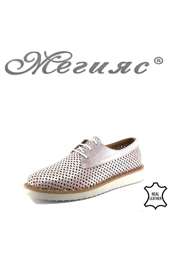 Ladies shoes 464 nude leather