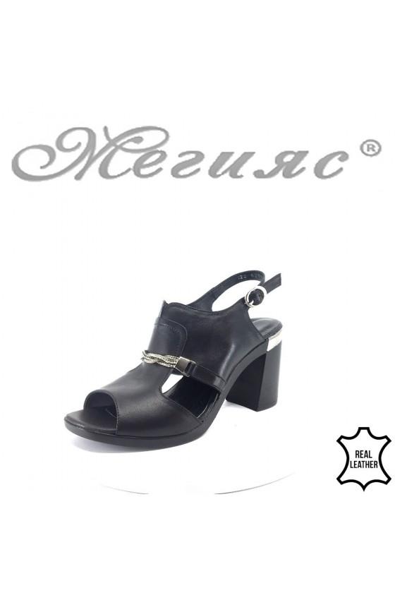 Дамски сандали 522-621черни от естествена кожа