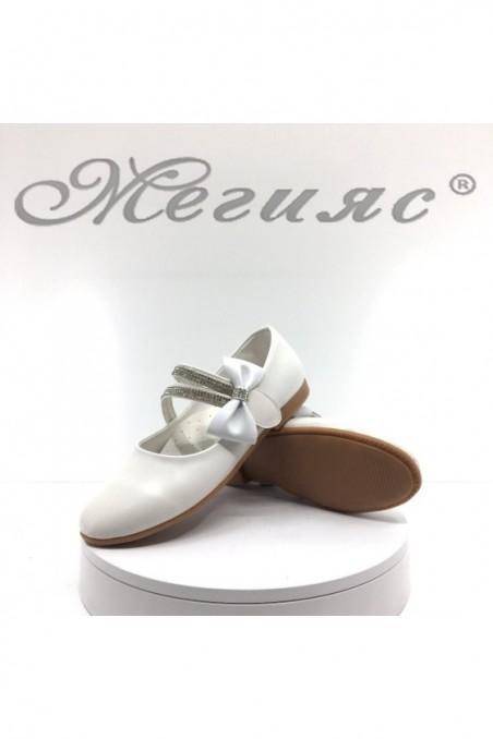 Детски обувки 00220 бели от еко кожа