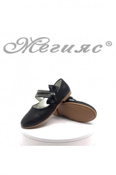 Детски обувки 00220 черни от еко кожа