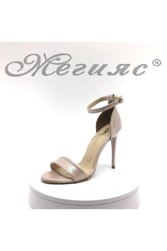 Lady elegant sandals 15103 nude pu  with high heel