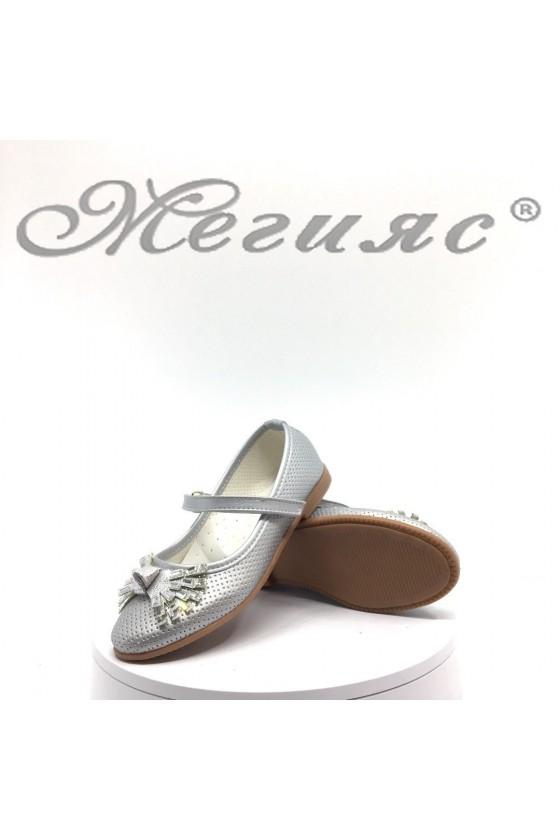 Детски обувки 00222 сребристи от еко кожа