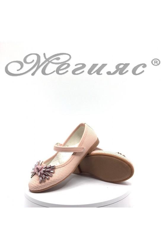 Детски обувки розови от еко кожа