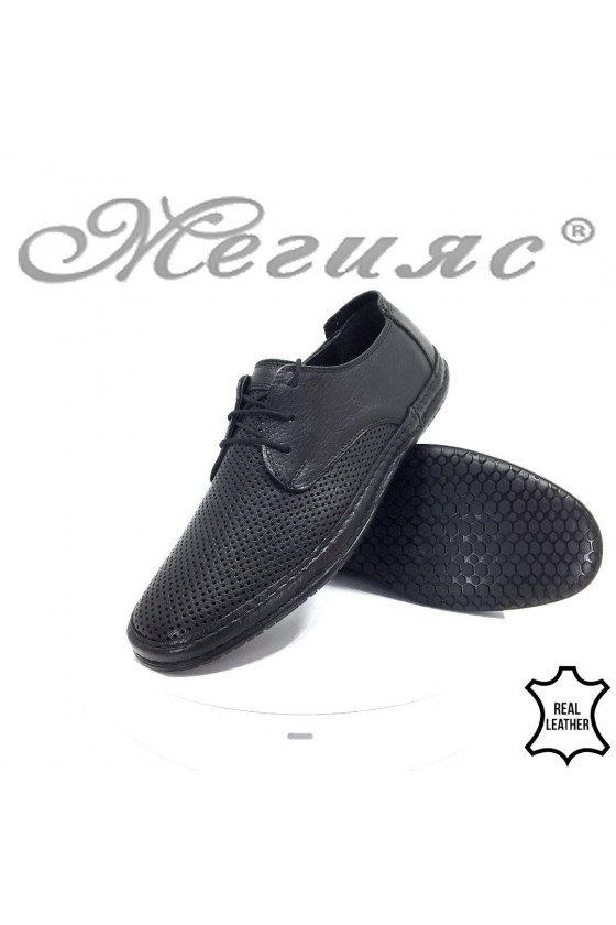 Мъжки ежедневни обувки 40 черни естествен кожа