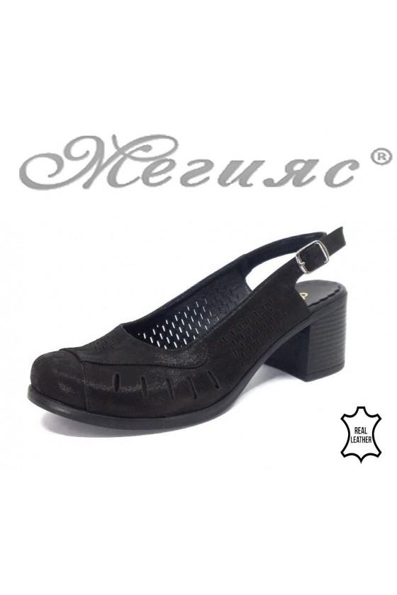 Women sandals 257-196 black leather