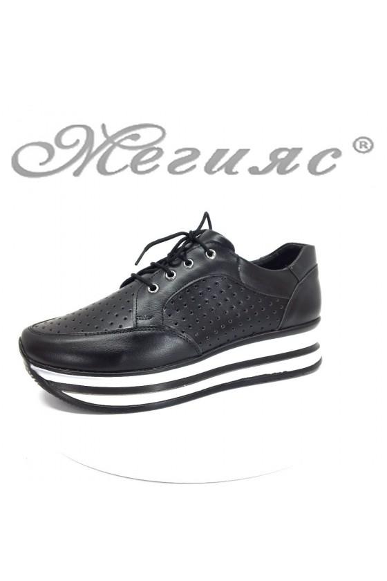 Women sport shoes 53-114 black pu