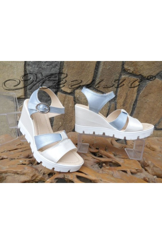 Дамски сандали 2823 на платформа от еко кожа