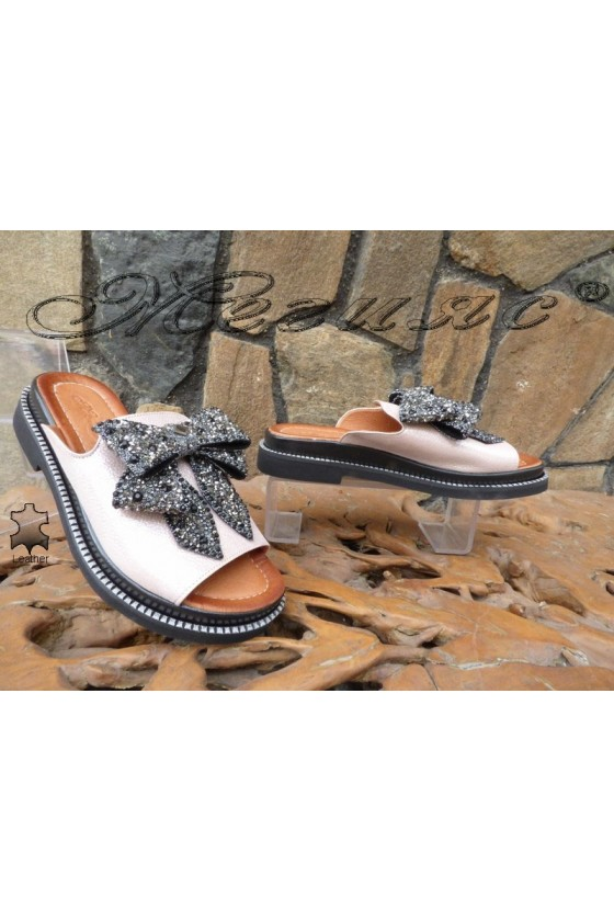 Women sandals 063-05 nude leather