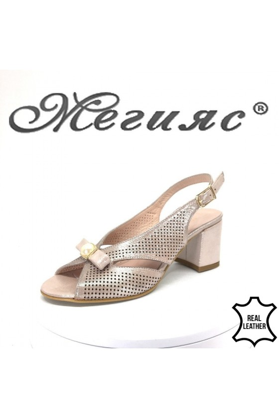 Lady sandals 916 nude leather