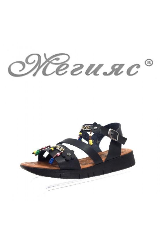 Дамски сандали 90-К черни от еко кожа ежедневни