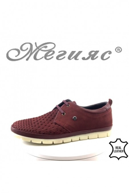 Men's shoes 11/2-7079 wine leather