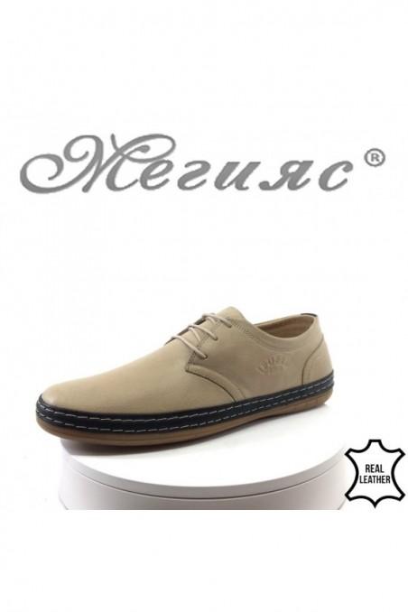 Мъжки обувки 828-03-05 бежови от естествена кожа