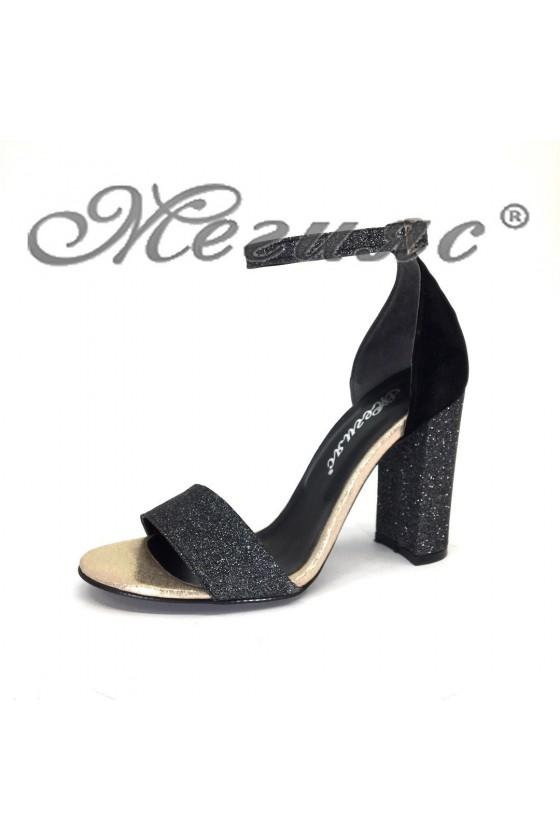 Дамски сандали 70-К графит брокат елегантни