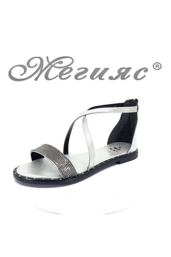 Дамски сандали Х-166 равни от еко кожа