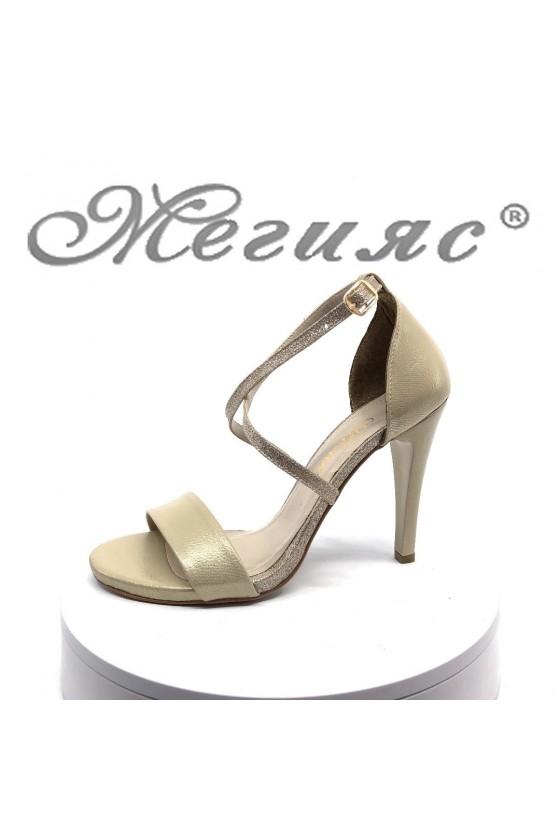 Дамски сандали 107-1 златисти елегантни на висок ток