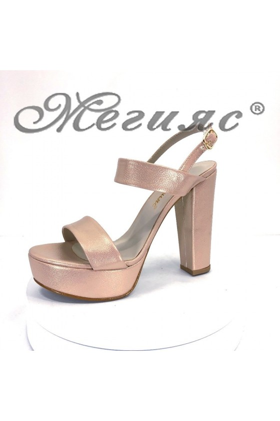 Дамски сандали 887-5 златисти елегантни на висок ток