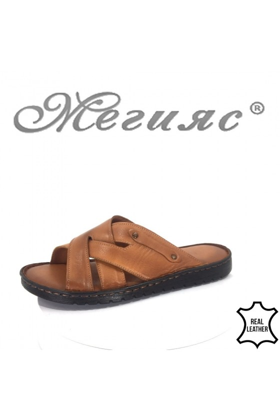 Men's sandals 214 brown leather