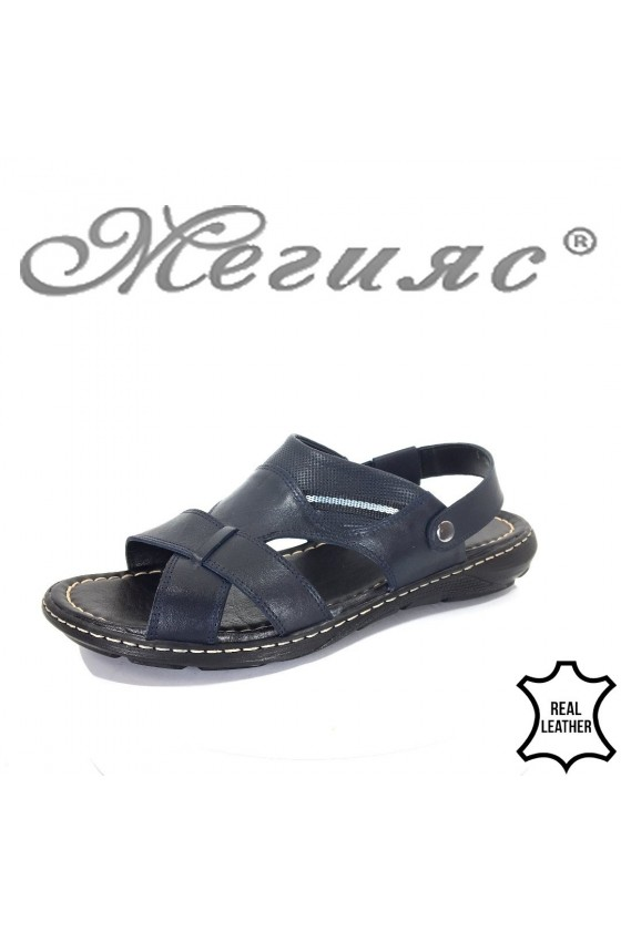 Men's sandals Fantasia 300 blue leather