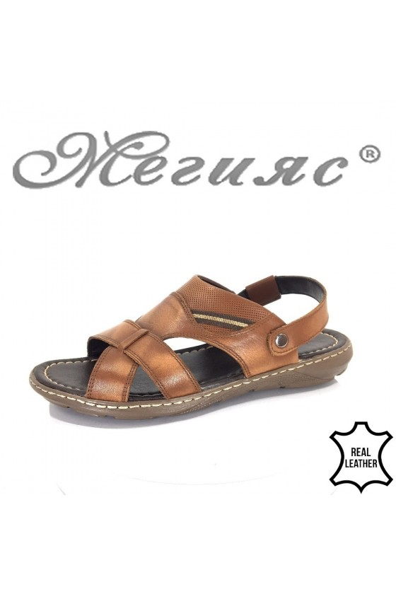 Men's sandals Fantasia 300 brown leather
