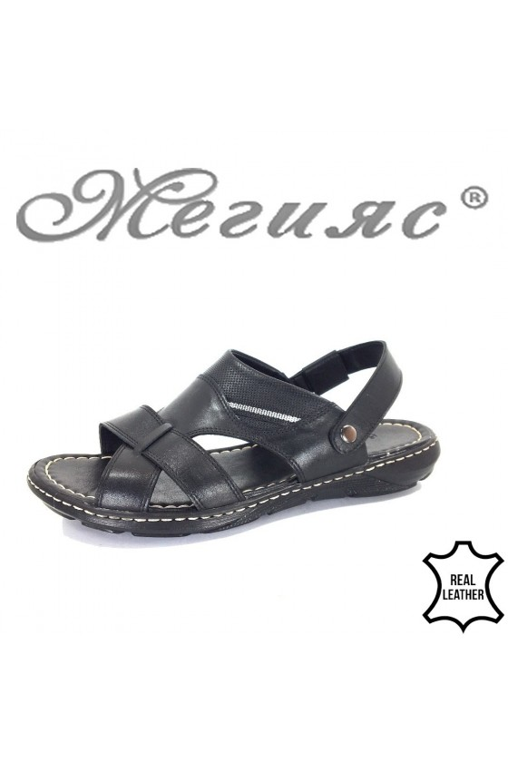 Men's sandals Fantasia 300 black leather
