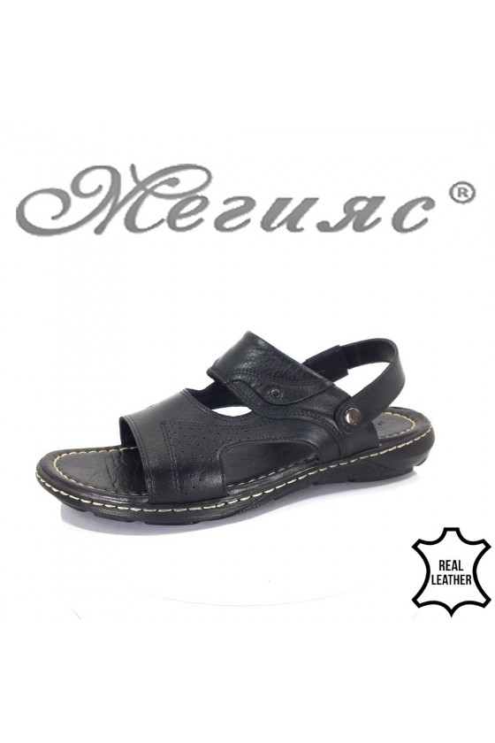 Men's sandals Fantasia 301 black leather