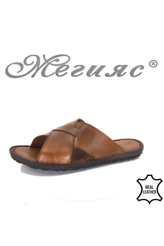 Men's sandals 035 brown leather