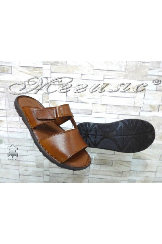 Men's sandals 040 taba leather