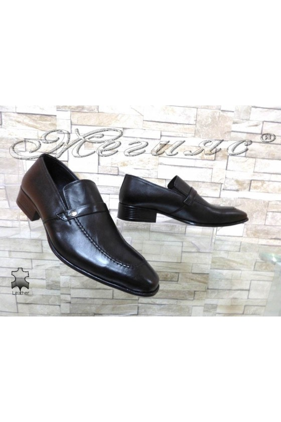 Men shoes 11-3120 black leather