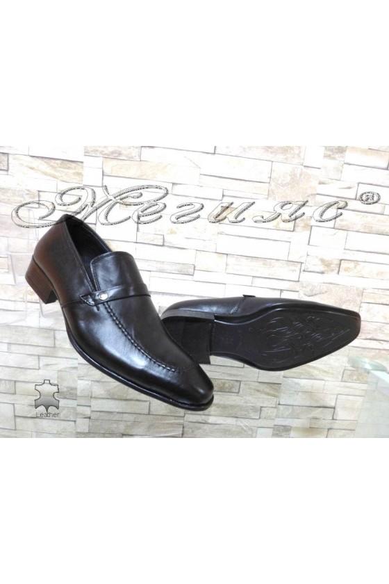Юношески обувки 11-3120 черни естествена кожа
