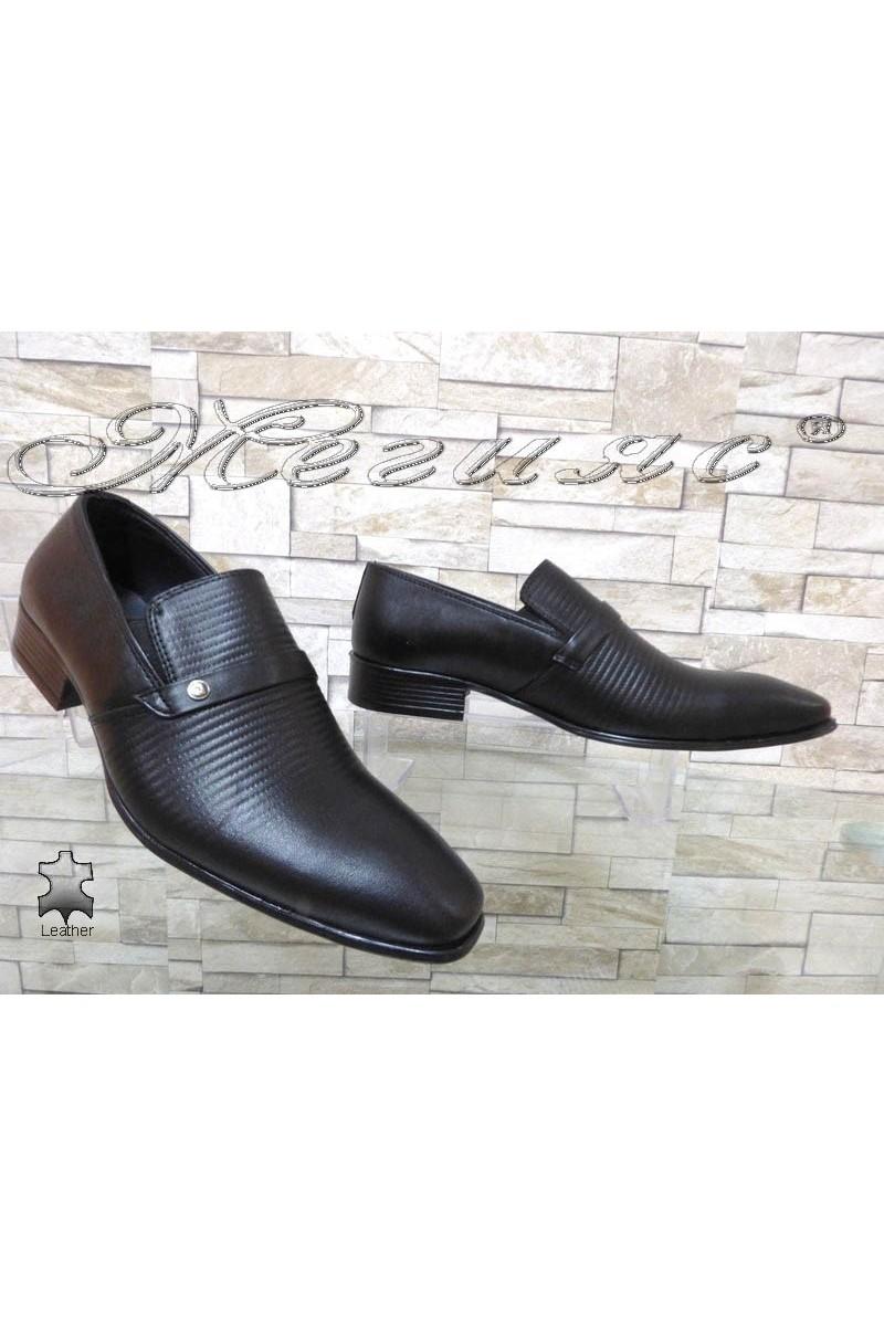 Юношески обувки 13-3121 черни естествена кожа