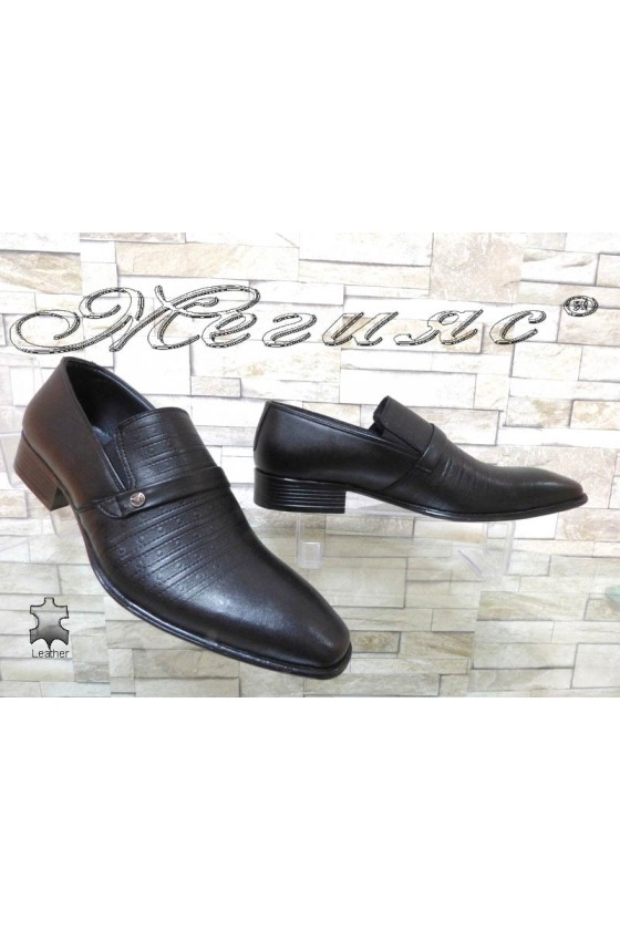 Men shoes 14-3121 black leather