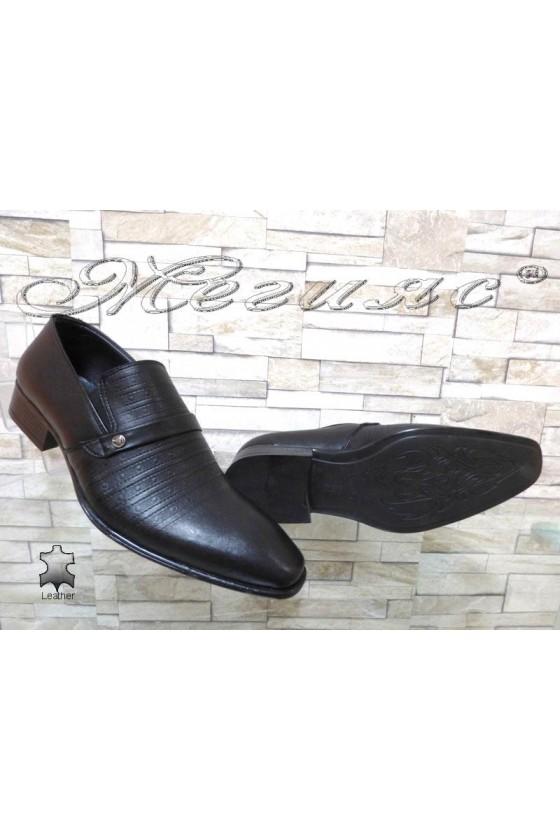 Юношески обувки 14-3121 черни естествена кожа