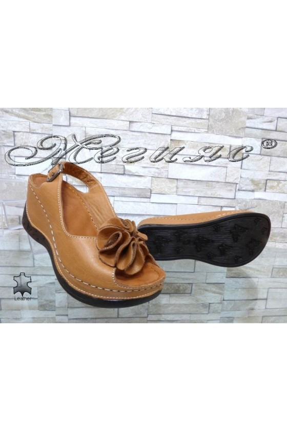 Lady sandals 11-145 brown leather