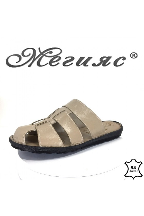 Men's sandals 080 beage leather