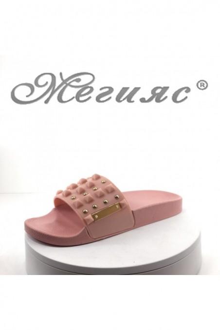 Дамски чехли 10-4 цвят пудра тип джапанки