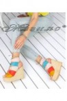 Дамски сандали 496 шарени на висока платформа